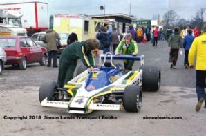 Fittipaldi F5A Guy Edwards  Mallory Park paddock, Aurora F1 1979 photo C